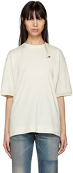 6397 Ssense Exclusive White Embroidered Rose Sport T Shirt