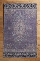 Anthropologie Overdyed Vedado Rug Lavender