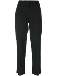 Theory Cropped Suit Pants Women Polyester Spandex Elastane Virgin Wool 4 Black