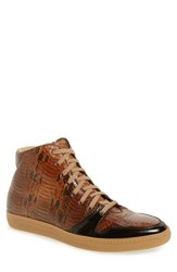 Mezlan Men's 'Bacoli' High Top Sneaker Brown Multi