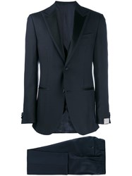 Corneliani Three Piece Formal Suit Blue