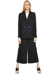 Proenza Schouler Wool Crepe And Knit Jacket