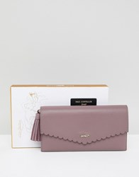 Paul Costelloe Real Leather Scallop Edge Purse Pink