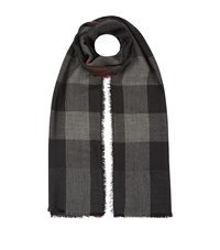 Burberry Shoes And Accessories Lightweight Check Cashmere Scarf Female Black