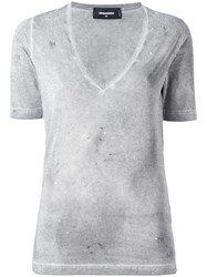 Dsquared2 Studded T Shirt Grey