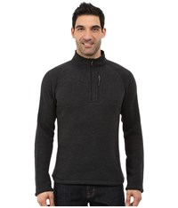 Smartwool Echo Lake Half Zip Top Charcoal Heather Men's Fleece Gray