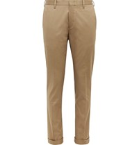 Paul Smith Slim Fit Cotton Blend Twill Trousers Neutrals
