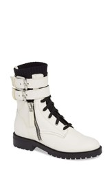 Dolce Vita Wylie Combat Boot Off White Leather