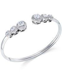 Arabella Swarovski Zirconia Bangle Bracelet In Sterling Silver White