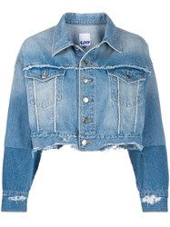 Sjyp Cut Off Bottom Denim Jacket 60