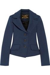 Vivienne Westwood Anglomania Petite Noble Stretch Cotton Blazer Storm Blue