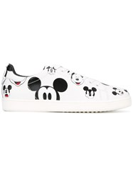 Moa Master Of Arts Mickey Mouse Printed Low Top Sneakers White