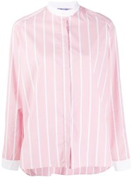 Thierry Colson Striped Long Sleeve Shirt Pink