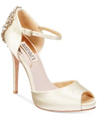 Badgley Mischka Dawn D'orsay Evening Sandals Women's Shoes Ivory