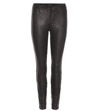 J Brand Super Skinny Leather Trousers Black