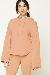 Forever 21 Dolphin Hem Heathered Hoodie