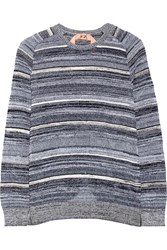N 21 Striped Knitted Sweater Gray