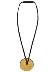 Monies Disc Pendant Necklace Black
