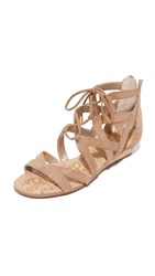 Sam Edelman Dawson Wedge Sandals Golden Caramel