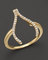Khai Khai Diamond Wishbone Ring In 18K Yellow Gold .2 Ct. T.W.