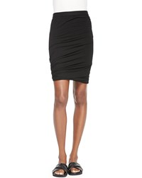 Alexander Wang Twisted Stretch Pencil Skirt Black