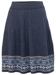 Fat Face Fairisle Skirt Navy