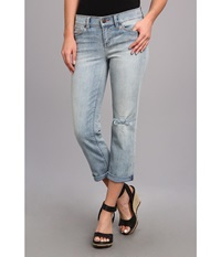 Dittos Rhonda Mid Rise Crop In Long Island Sunset Long Island Sunset Women's Jeans Blue