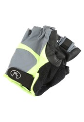 Roeckl Sports Badi Fingerless Gloves Grey Yellow
