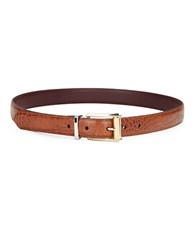 Lauren Ralph Lauren Textured Leather Belt Brown