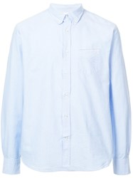 Officine Generale Long Sleeve Fitted Shirt Blue