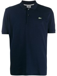 Lacoste Logo Embroidered Polo Shirt Blue