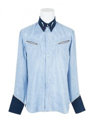Umit Benan Western Shirt Light Blue