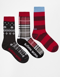 Bjorn Borg 3 Pack Socks Gift Set Multi