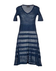 Gattinoni Short Dresses Dark Blue