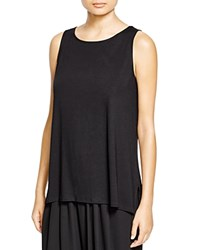 Eileen Fisher Boat Neck Tank Black