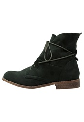 Anna Field Laceup Boots Dark Green