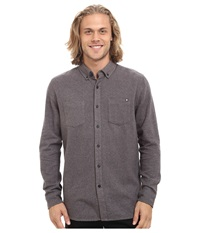Rip Curl Bodie Long Sleeve Flannel Asphalt Men's Clothing Black