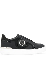 Philipp Plein Lo Top Statement Sneakers Black