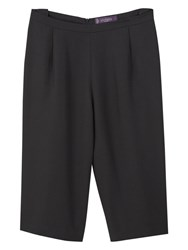 Violeta By Mango Cropped Palazzo Trousers Black