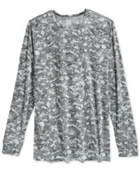 32 Degrees Heat By Weatherproof Thermal Long Sleeve Crew Grey Camo