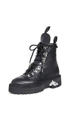 Off White Hiking Boots Black