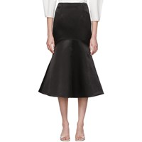 Edit Black Flare Skirt