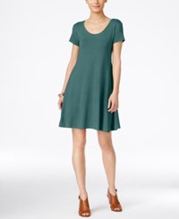 Styleandco. Style Co. Short Sleeve A Line Dress Only At Macy's Green Nectar