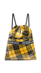 Le Sport Sac Lesportsac X Mademe Drawstring Backpack Yellow Plaid
