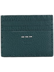Fendi Card Holder Men Calf Leather One Size Green