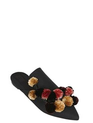 Sanayi313 10Mm Cotton Canvas And Raffia Mules