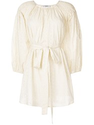 Marysia San Salvador Broderie Anglaise Tunic Nude And Neutrals