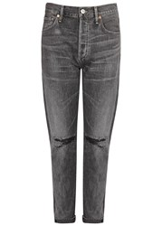 Citizens Of Humanity Liya Grey Distressed Boyfriend Jeans