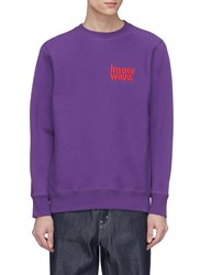 Know Wave Logo Embroidered Sweatshirt Purple