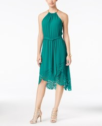 Thalia Sodi Laser Cut High Low Hem Dress Only At Macy's Ocean Pine
